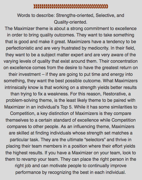 Maximizer Desc