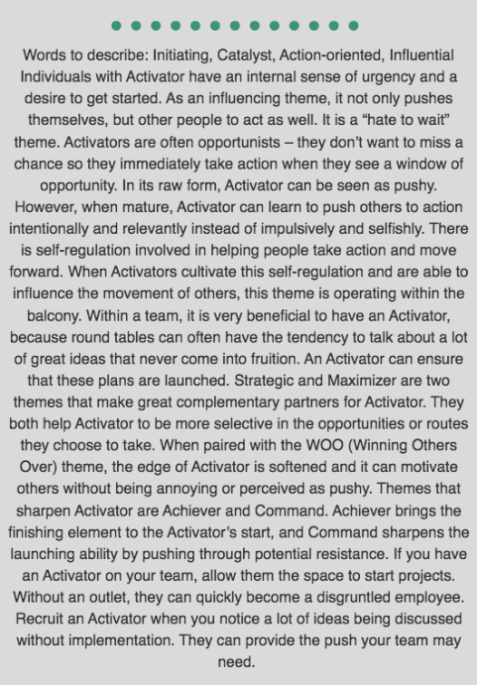Activator Description