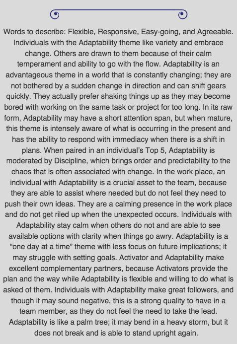 Adaptability Desc