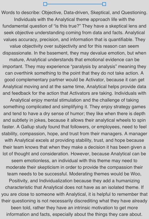 Analytical Desc