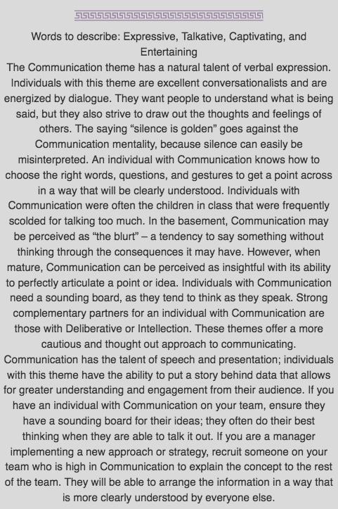 Communication Desc