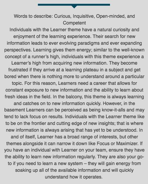 Learner Desc