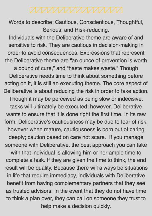 Deliberative Desc