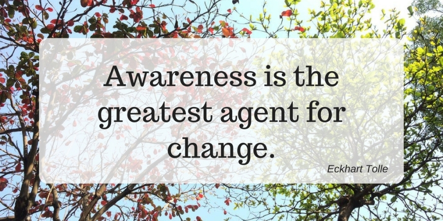 Awareness is the greatest agent for change.